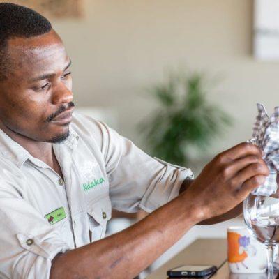 ndaka safari lodge - restaurant staff